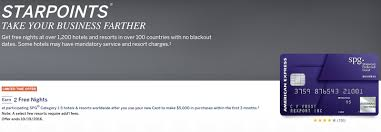 Credit Card For New Business With No Credit The Starwood Business Amex Is Offering A New Sign Up Bonus One