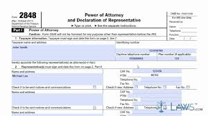 Power Of Attorney Form Virginia by Form 2848 Youtube