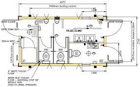 Floor Plan Shower Symbol 16ft X 9ft Toilet And Shower Unit Mobile Mini