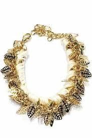 white gold leaf bracelet images White bracelet with gold leaves aphrodite store jpg