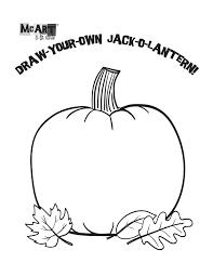 jack o lantern coloring virtren com