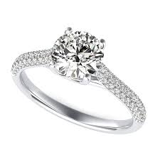 trellis cathedral micro pave half eternity engagement ring edwin
