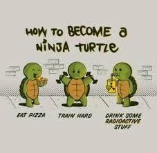 Ninja Turtle Meme - dopl3r com memes how to become a ninja turtle eat pizza train