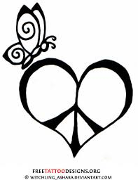 50 peace sign tattoos peace is peace sign