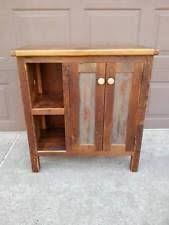 antique amish built unfinished reclaimed barn wood bathroom vanity