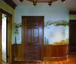 from awkward spaces to glorious vistas maine boats homes harbors the hand painted wall mural was designed to enhance the unique curved wall in the entryway of a classic victorian on castine s waterfront representing the