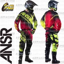 motocross jersey and pants combo four mission atv motocross jersey pants combo gently used