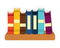 on a shelf books on a shelf icons by canva