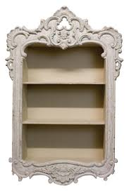 White Shabby Chic Bookcase by French Country Ornate Framed Wall Shelf Wish List Pinterest