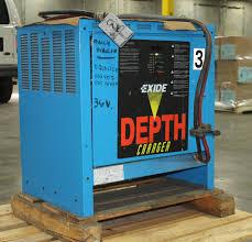 exide depth electric forklift battery charger 36v model d3e 18