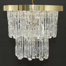 hollywood regency swag l vintage icicle lucite chandelier hollywood regency 2 tiered ice swag