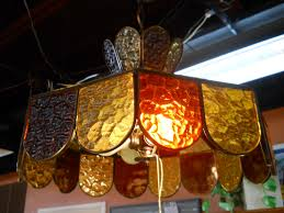 Orange Glass Chandelier 20 Ideas Of Stained Glass Chandelier