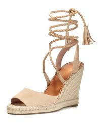 joie phyllis suede wedge espadrilles in natural lyst