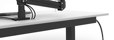 Desk With Cable Management by Top Sit Stand Desk Accessories U2013 Evodesk Blog