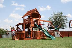 our redwood playsets grow with your child backyard fun factory