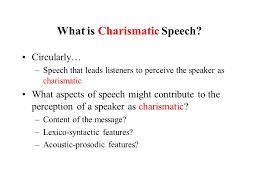 charisma in and arabic political speech hirschberg
