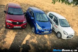 renault kwid on road price diesel maruti alto 800 vs renault kwid vs hyundai eon shootout