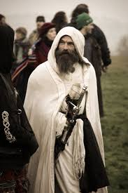 druidic robes winter solstice 2007 a druid complete with white robes and sword