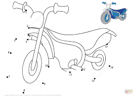 cartoon motorcycle 1 15 dot to dot free printable coloring pages