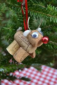 rudolph and tree cork ornaments chickabug