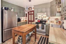 Country Kitchens With Islands Country Kitchen With Wood Counters U0026 Kitchen Island In Kingsville