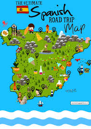 Madrid Spain Map The Ultimate Map Of 15 Beautiful Places You Have To See In Spain