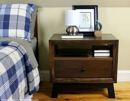Nightstand With Shelf Remodelaholic Diy Chunky Solid Wood Nightstand Tutorial