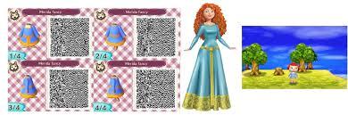 acnl hair qr codes merida qr code blue dress by ruby290930 on deviantart