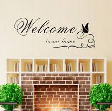 amazon com trurendi welcome to our home wall quote sticker decal amazon com trurendi welcome to our home wall quote sticker decal mural stencil vinyl print wall art home kitchen