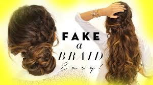 Easy Hairstyles For Medium Layered Hair by 3 Minute Easy Hairstyles Fake Ladder Braid For Long Medium