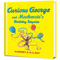 personalized books starring curious george put story