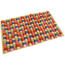 rectangular shaped bath mat design ideas feature vinyl resists cute colorful samba pom bath mat for bathroom design come with cotton material bath mat a