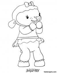 printable lambie lamb doc mcstuffins coloring pages
