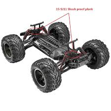 amazon com hosim rc car shock proof plank sj11 accessory spare
