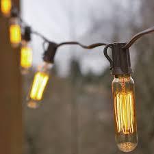 vintage light bulb strands vintage bulb string lights 25 foot brown wire t6 tubular bulb