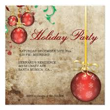 Christmas Ornament Party Invitations - christmas party invitation fancy ornaments party invitations