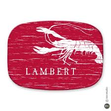 personalized crawfish trays personalized melamine platters cling creative living