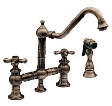 brushed bronze kitchen faucet whitehaus whkbtcr39201orb vintage iii kitchen faucet two cross