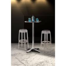 zuo anime 29 5 in clear bar stool 106106 the home depot