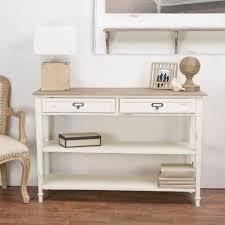 Storage Console Table Baxton Studio Dauphine White And Light Brown Storage Console Table