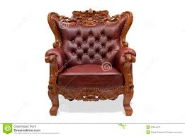 Wooden Chair Classical Carved Wooden Chair Royalty Free Stock Images Image
