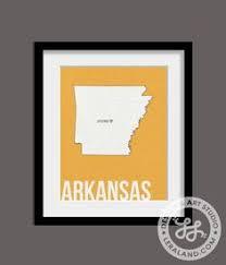 Little Rock Arkansas Art Arkansas Home Decor Watercolor State - Home decor little rock