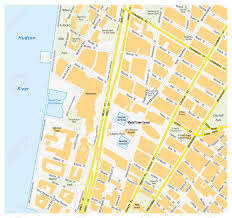 Manhattan New York Map by Map Downtown Manhattan World Trade Center New York City Royalty
