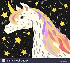 designed for children picture of unicorn with fancy hair unicorn