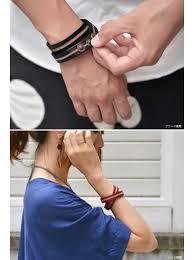 free leather bracelet images Nakota rakuten global market become an indispensable line jpg