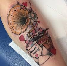 phonograph tattoos