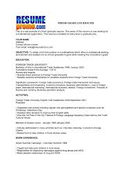 Resume Sample With Format by Fresh Graduate Resume Sample 22 Sample Resume Format For Fresh