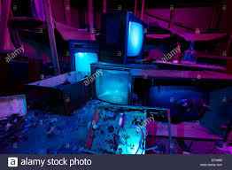 halloween party background images light painted abandoned cinema studio 3 crashed tv sets still