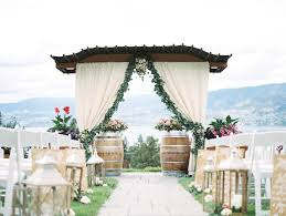 wedding arch kelowna high school sweethearts kelowna wedding decorating by vintage