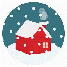 chimney christmas cold house new season snow snowing